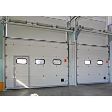 Промышленные секционные ворота с торсионными пружинами