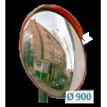 Зеркало дорожное для улицы с козырьком  D=800