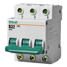 Автоматический выключатель  ДЭК С25 3х полюсной