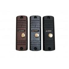 AVC-105 (Серебряный Антик) 2-х проводная аудиопанель. Накладного исполнения, узкая. 122х40х22 мм